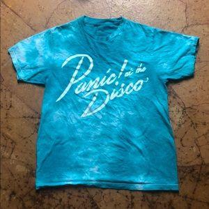 Blue Tie Dye Band T-Shirt